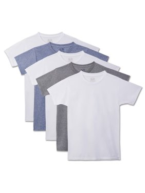 Fruit of the Loom Beyond Soft Crew Undershirts, 5 Pack (Little Boys & Big Boys)