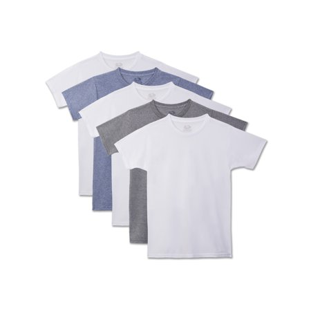 Fruit of the Loom Beyond Soft Crew T-Shirts, 5 Pack (Little Boys & Big