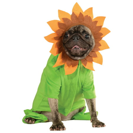 Sweet Sunflower Pet Dog Cat Spring Flower Hoodie Halloween Costume (Pet Cat Halloween Costumes)