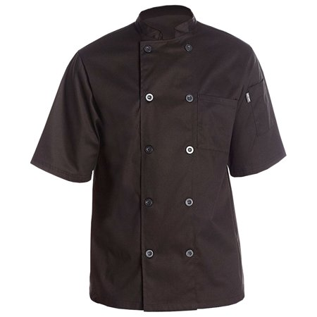 Chef Code Lightweight Ultra Soft Short Sleeve Chef Coat (Chefs Coat)