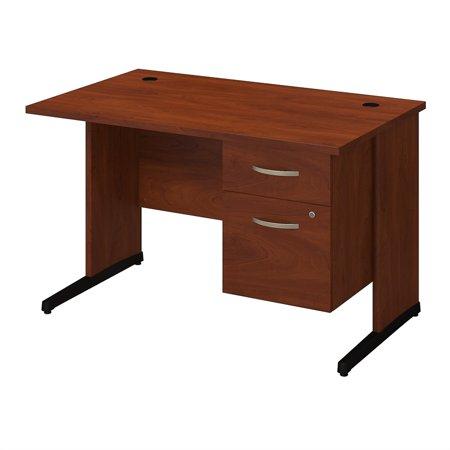 Series C Elite 48W x 30D C Leg Desk with Pedestal in Hansen Cherry - image 9 de 10