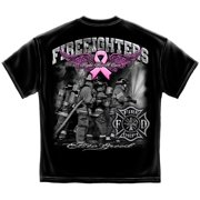 Erazorbits ELITE BREED FIGHT FOR A CURE FIREFIGHTER Black Adult Unisex T-Shirt