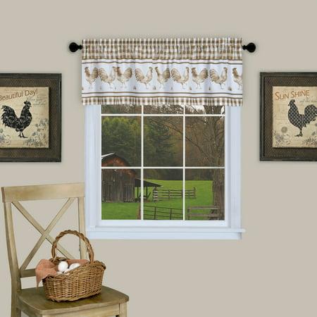 Barnyard Rooster Kitchen Window 14 Valance Curtain
