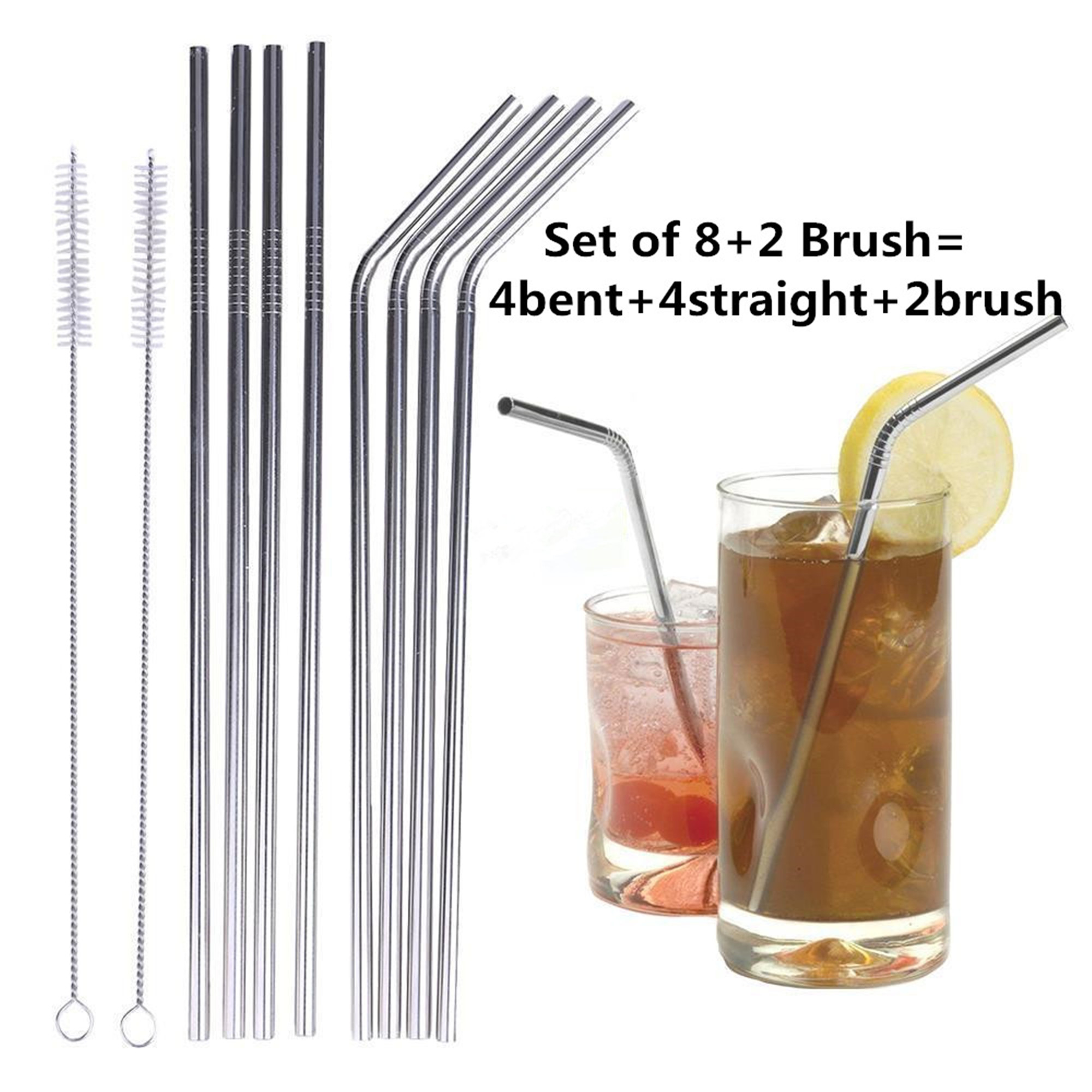 Stainless Steel Drinking Straws Reusable Metal Drinking Straws for 20 Oz Yeti Tumbler Rambler Cups
