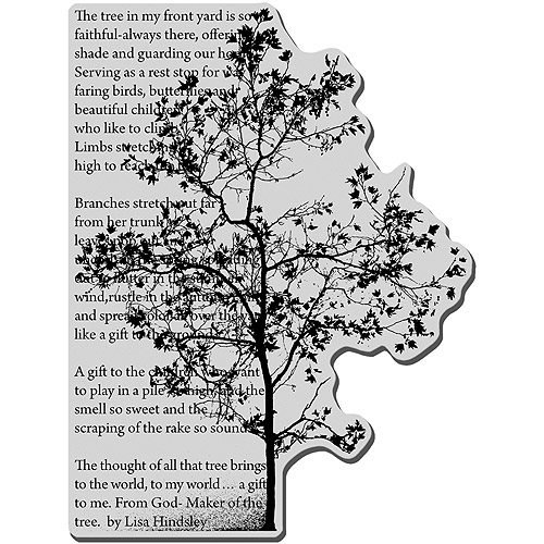 "Stampendous Cling Stamp 4""X6""-Tree Poem"