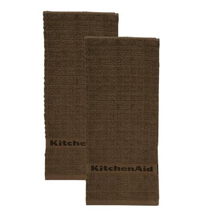 (KitchenAid Adastral Kitchen Towels, Set of 2, Brown)