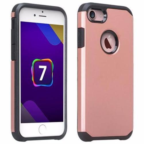 Apple Iphone 7 Case Slim Hybrid Dual Layer Shock Resistant Case Cover For Iphone 7 Rose Gold Walmart Com Walmart Com