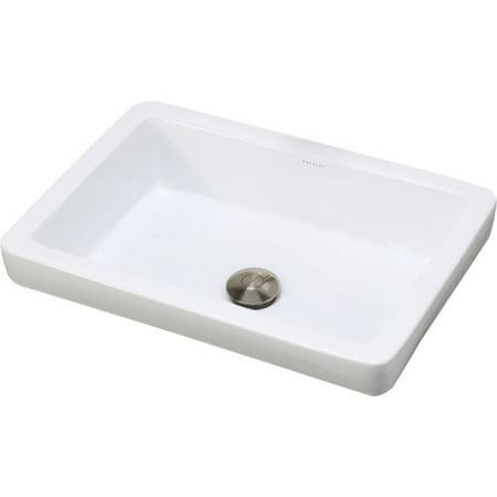 DecoLav Classically Redefined Ambre Ceramic Rectangular Vessel Bathroom - Decolav Pedestal Sink