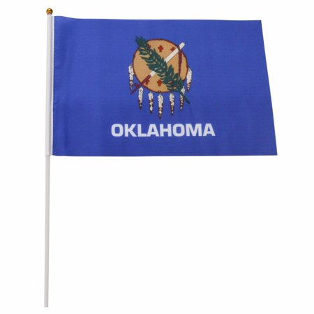Oklahoma State 12-Pack 4x6 Inch Hand Waving Desk Flags #15