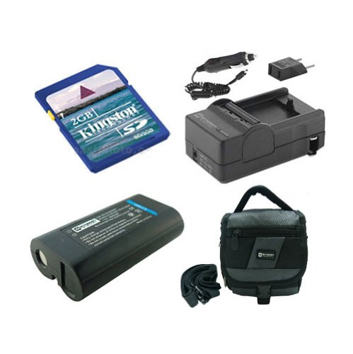 Kodak Z612 Digital Camera Accessory Kit includes: SDC-27 Case, SDKLIC8000 Battery, KSD2GB Memory Card, SDM-181 Charger
