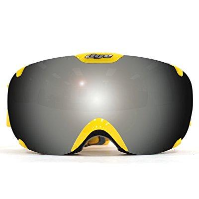 dye snow t1 dts goggles, yellow faded smoke silver, one size by