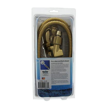 sprite hh gd handheld gold shower filter system. Black Bedroom Furniture Sets. Home Design Ideas