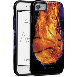 buy online 717a0 2a8de Cellairis Aero Case for Apple iPhone 7/8 - Aero Sports Basketball Fire