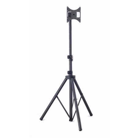 Elitech Steel Portable Plasma or LCD TV Tripod Stand for up to 37″ Flat Panel TV, Height Adjustable.