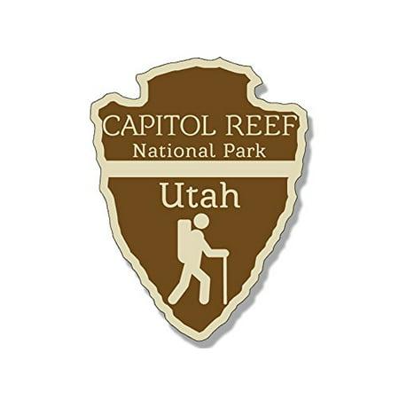 Arrowhead Shaped CAPITOL REEF National Park Sticker (rv hike (Best Hikes In Capitol Reef National Park)