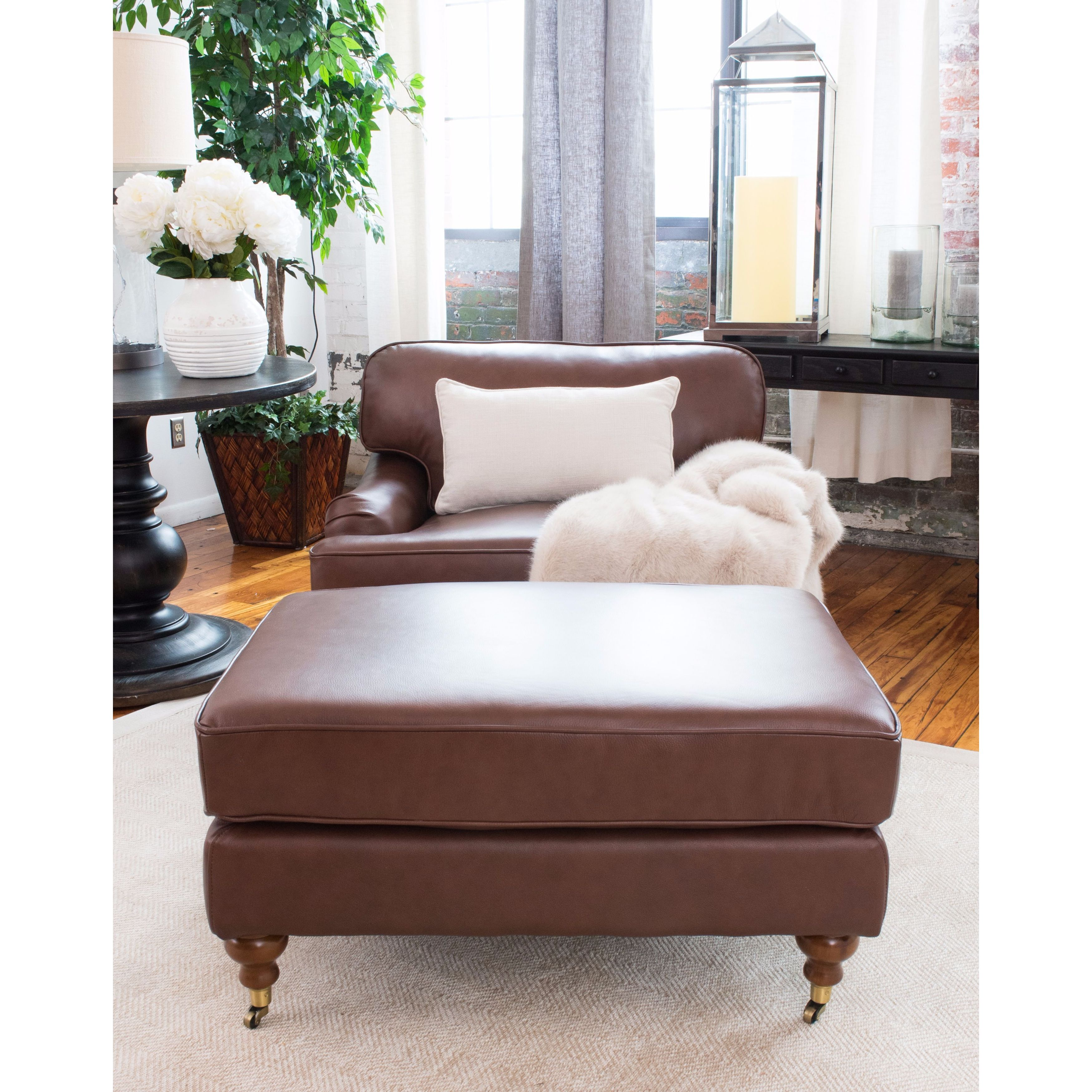 Click here to buy Elements Fine Home Furnishings Athens 2 Piece Set Top Grain Leather Set in Bourbon by Supplier Generic.