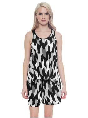 e51c40e23fdce Product Image Joe Boxer Womens 2 pc Pajama Lounge Set Print Sleep Tank &  Shorts, Black,