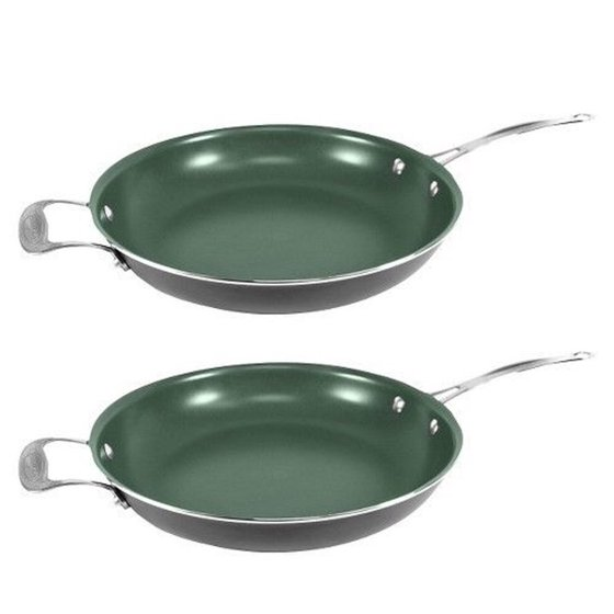 2 Telebrands Orgreenic 12 Quot Ceramic Non Stick Kitchen