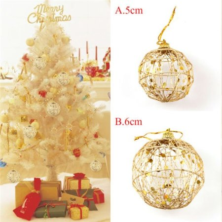 6 pcs Glitter Scale Christmas Baubles Xmas Tree Ornament Ball Christmas Decor - image 4 of 5