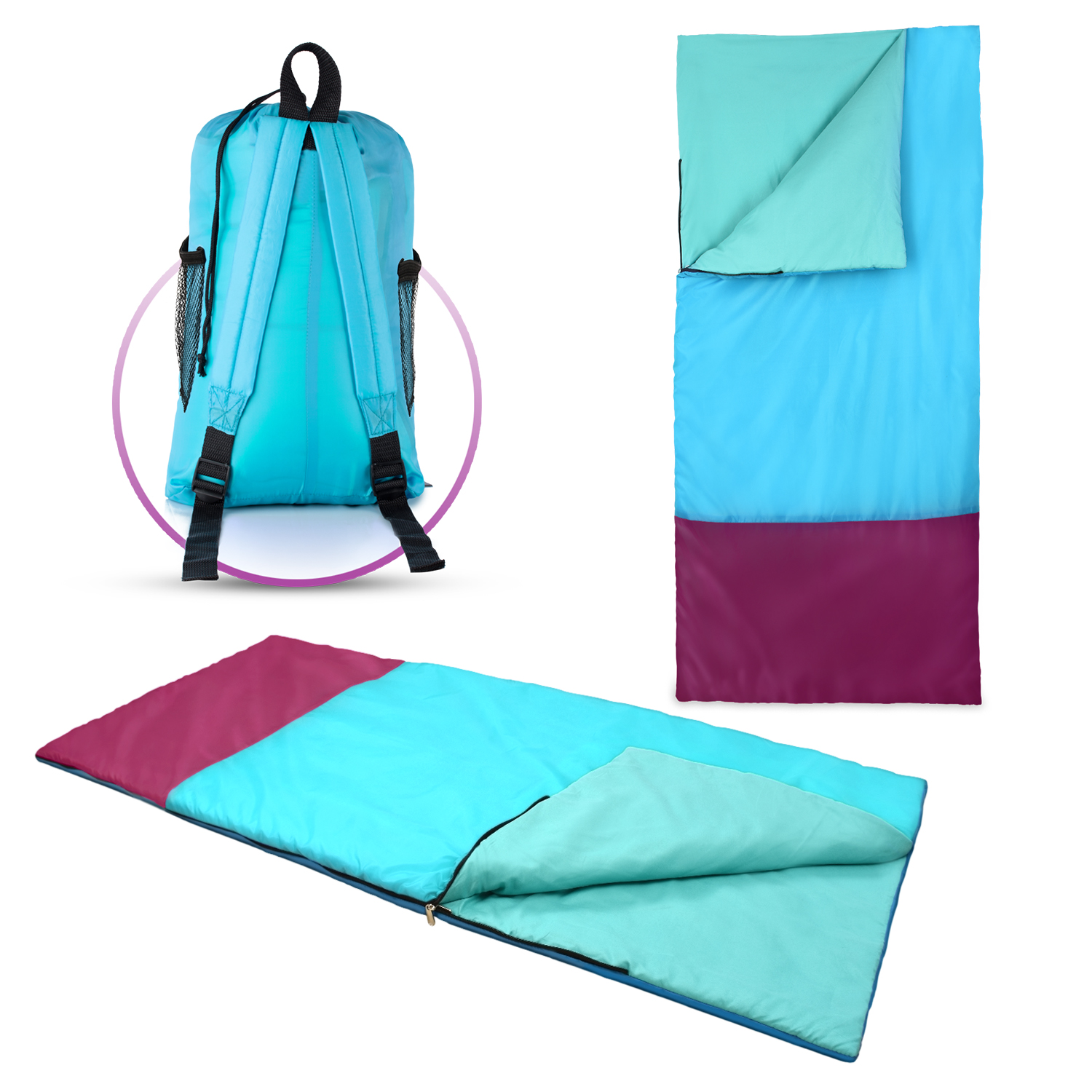 Kids or Children's Junior Sleeping Bags for Boys and Girls