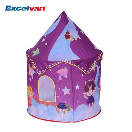foldable baby toddlers pop up tent star theme castle cubby playhouse kids home children game. Black Bedroom Furniture Sets. Home Design Ideas