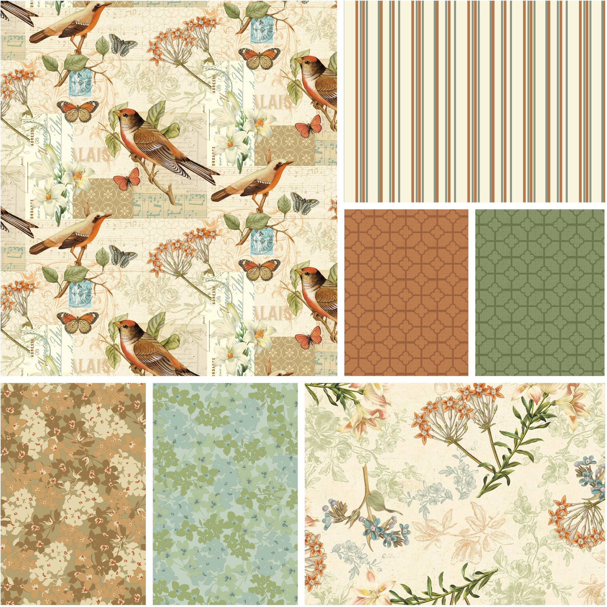 "David Textiles Oak Avenue Collection 44"" Quilting Cotton Fabric By The Yard"