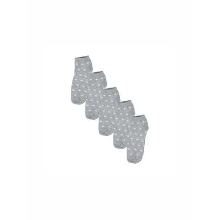 Women's Low Cut Hearts Pattern Elastic Cuff Ankle Socks 5 Pairs ()