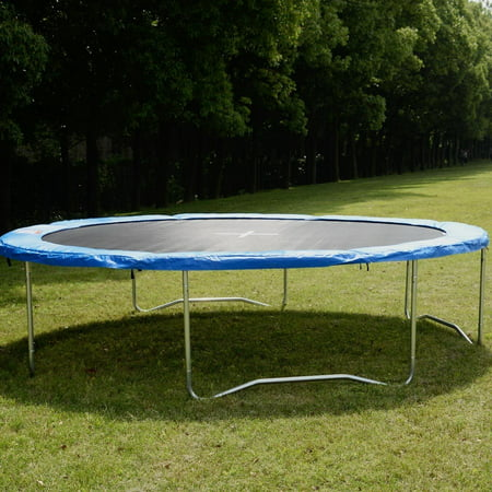 Blue Safety Round Spring Pad Replacement Cover for 15' Trampoline ()