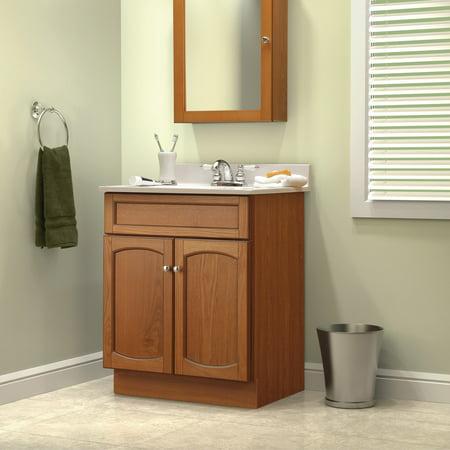 Foremost heartland oak bathroom medicine - Bathroom vanity and medicine cabinet combo ...