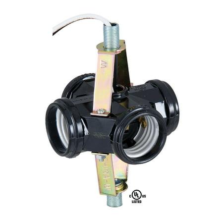 B&P Lamp® 4 Socket Edison Base Socket Cluster