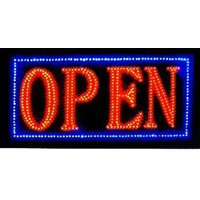 Latest 2017 Version High Energy Efficiency (More LEDs Less Power) Open Sign Vivid Attention Catcher Animated LED Neon Business Light Classic Look LN32