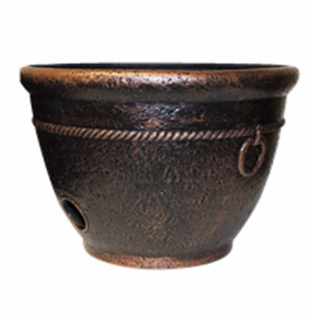 Garden Hose Pot, Copper Resin, Holds 100-Ft. ()