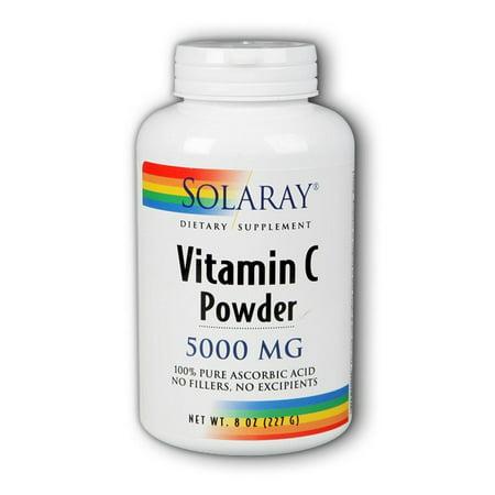 Solaray C Crystalline 5000 mg Powder, 8 Oz