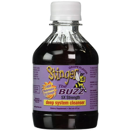 Stinger 1-Hour Detox Liquid Drink 5x Strength Grape 8oz The Buzz Cleanser