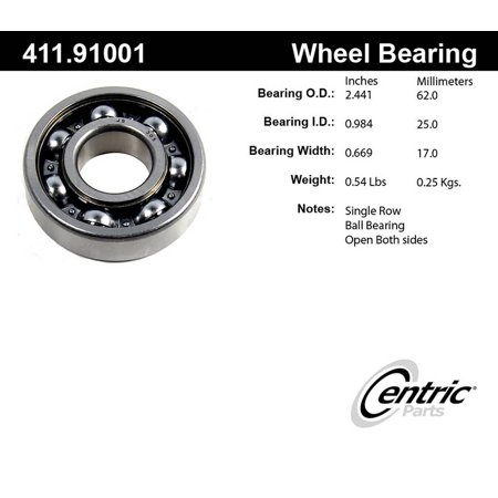 centric 411.91001 Axle Shaft Bearing Assembly Axle Shaft Outer Bearing