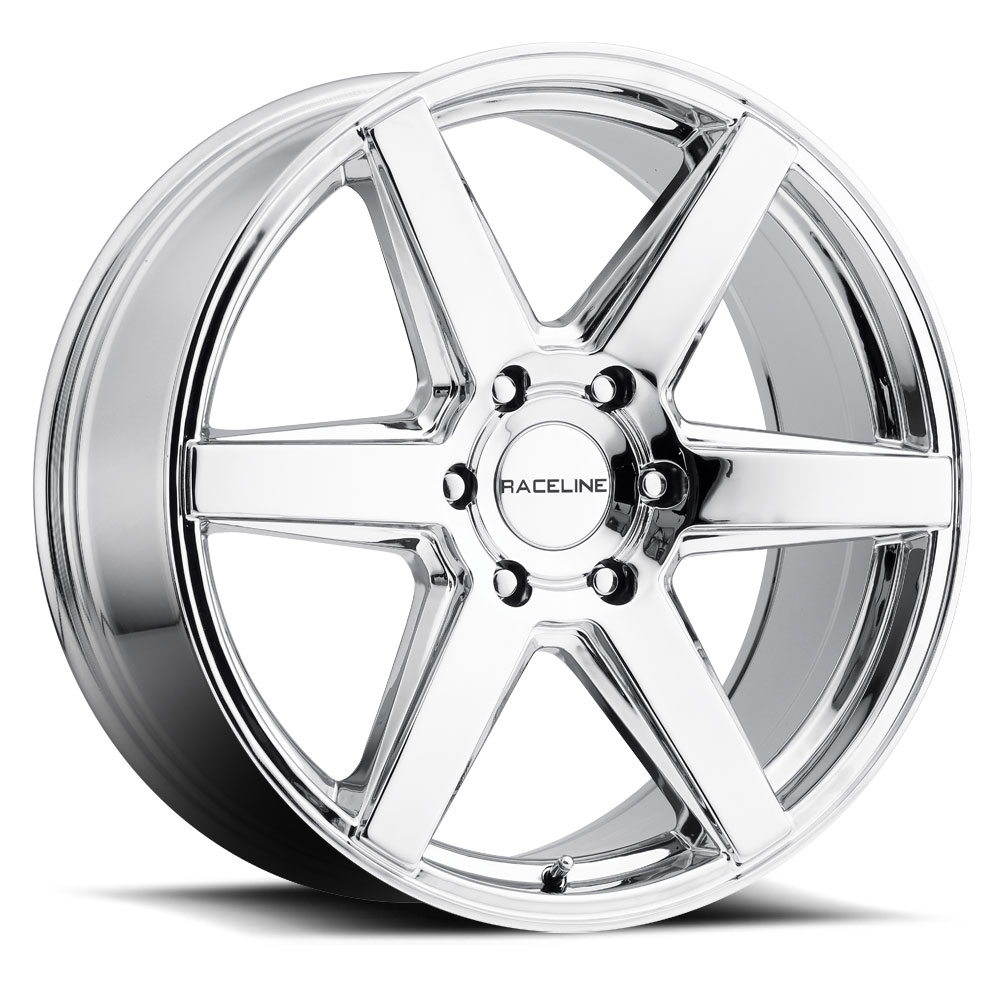 "22"" Inch Raceline 156C Surge 22x9.5 6x139.7(6x5.5"") +35mm Chrome Wheel Rim"