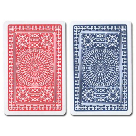 R/B Bridge Club Index (Regular) 100% Plastic Playing Card Set, 100% Plastic Playing Cards By (Set 100 Index)