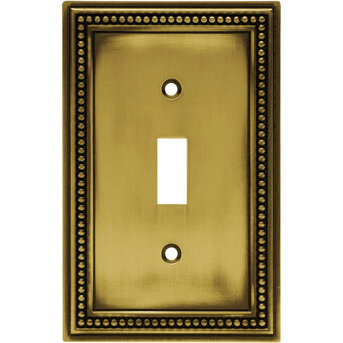 Brainerd Beaded Single Switch Wall Plate, Available in Multiple Colors