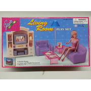"Gloria Living Room Set For 11.5"" Fashion doll and Dollhouse Furniture"