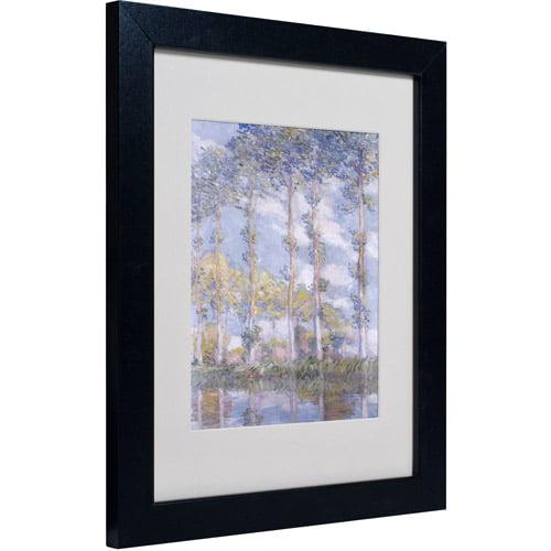 """Trademark Fine Art """"The Poplars"""" Matted Framed Canvas Art by Claude Monet"""