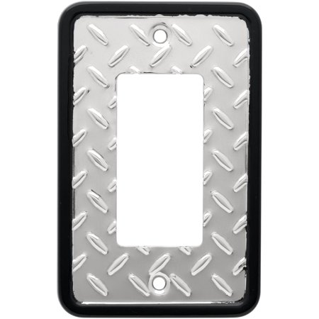 Franklin Brass Diamond Plate Single Decorator Wall Plate in Polished Chrome (Chrome Plated Single)