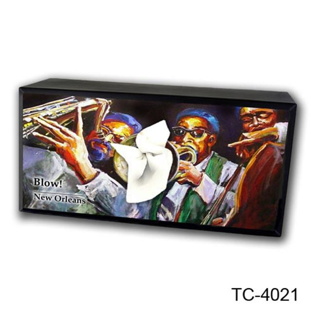 Caravelle Designs TC-4021 Trumpet Player Tissue Box Cover