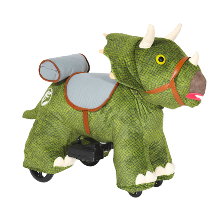 6 Volt Jurassic World Triceratops Plush Ride-On