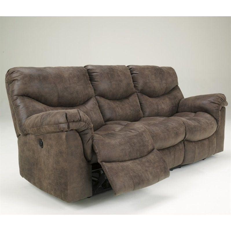 Ashley Furniture Alzena Reclining Sofa in Gunsmoke