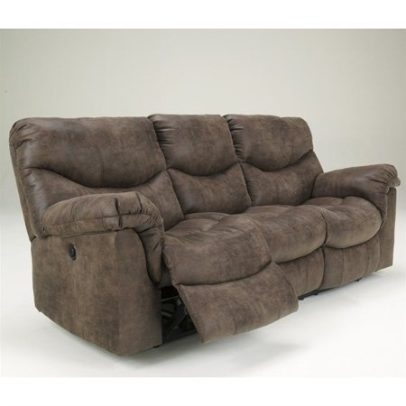 Ashley Furniture Alzena Reclining Sofa In Gunsmoke Walmart Com