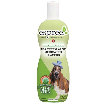 Dog Shampoo Natural Tea Tree & Aloe For Dry Dogs Irritated Skin Coats 12