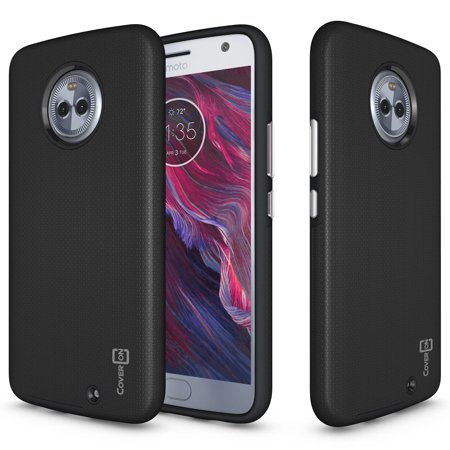 CoverON Motorola Moto X4 (Moto X 4th Gen 2017) Case, Rugged Series Protective Hybrid Phone Cover (Moto X 1st Gen Case Flip)