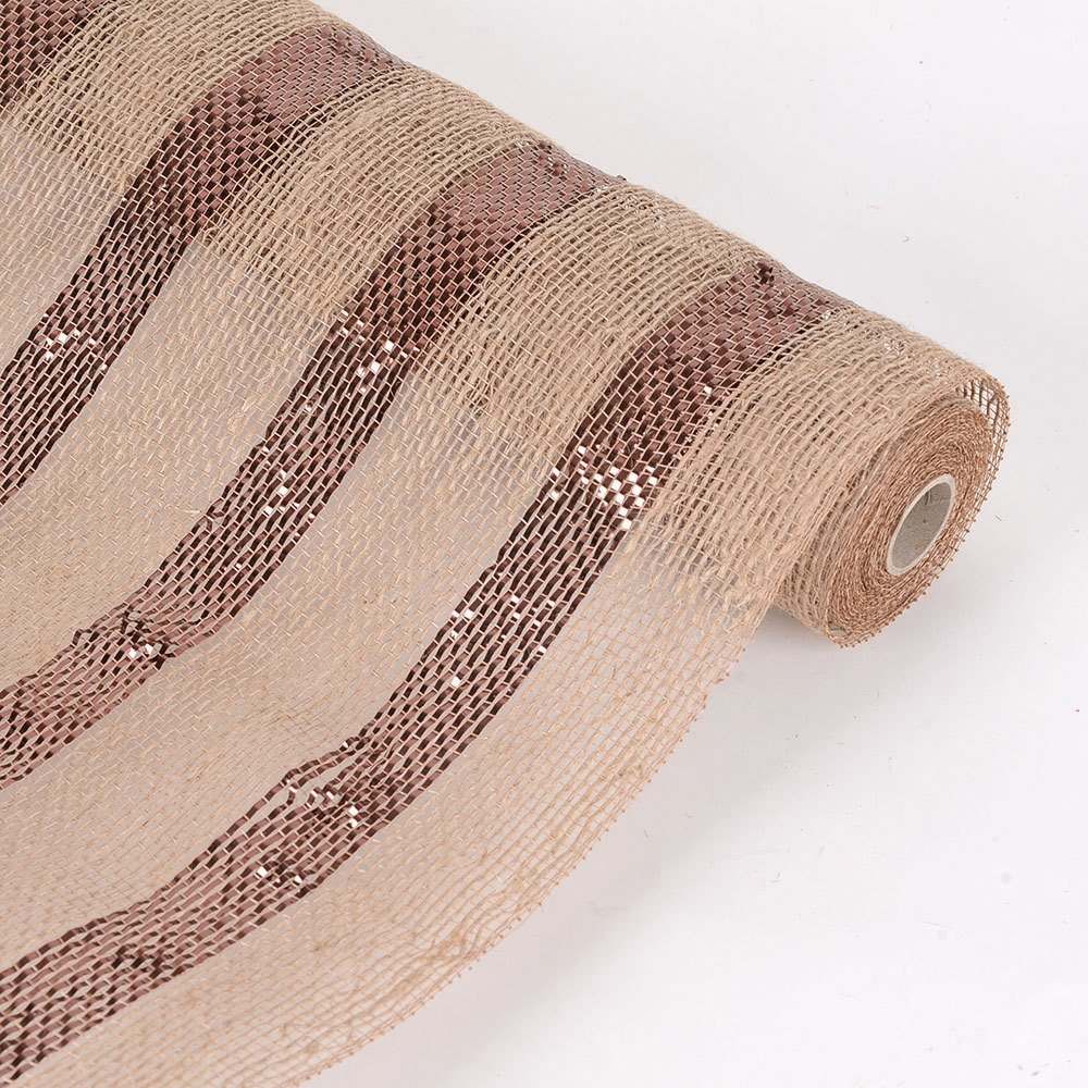 6 Inch X 10 Yards Burlap Metallic Stripes Mesh for Gift Home Decor Party (Red), Ship in 1 Business Day. By BBCrafts