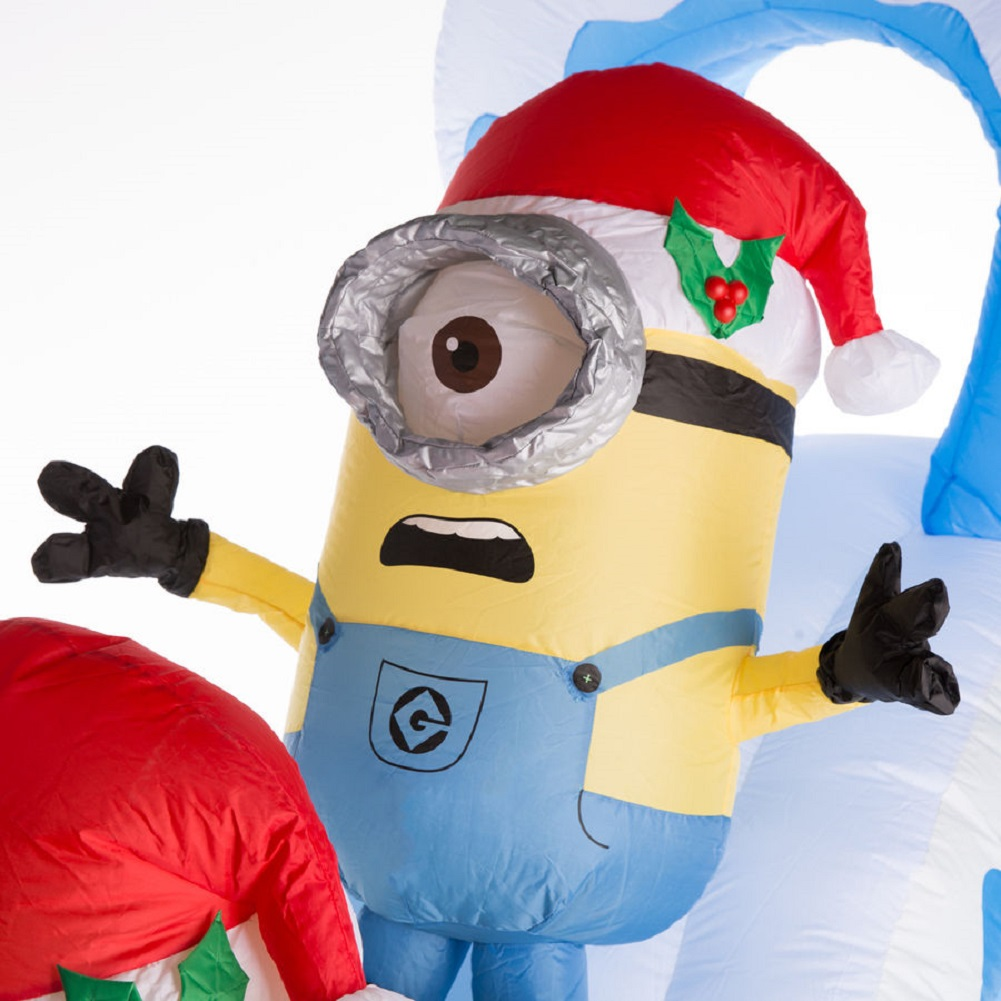 Despicable Me Minion Naughty or Nice Slide 10 FT Airblown Inflatable ...
