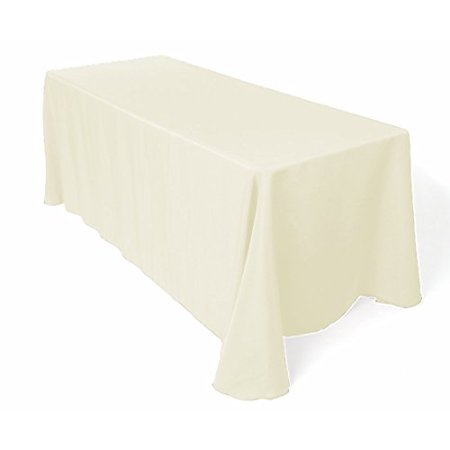 Gee Di Moda Tablecloth Rectangular 90 x 132 inch Polyester - Ivory Tablecloth - Thanksgiving Tablecloth Wedding Tablecloth Dining Room Table Cloth Rectangle Party Tablecloths for Rectangle Tables](Thanksgiving Paper Tablecloths)